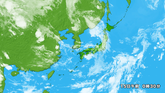衛星画像 日本広域