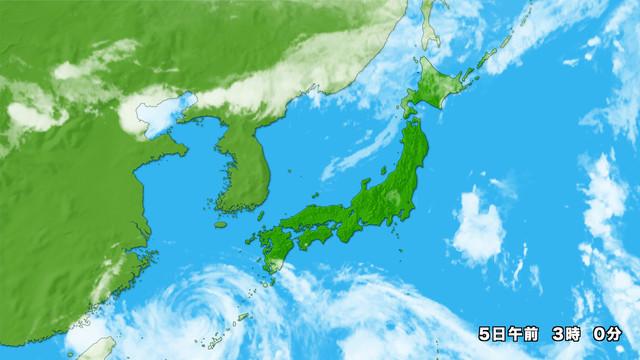 衛星画像 日本拡大