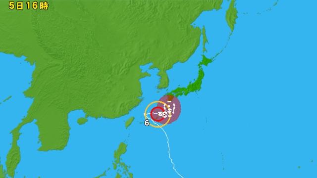 台風情報 アジア広域
