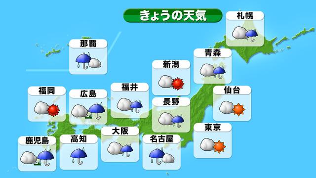 全国の天気 天気