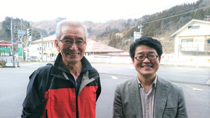 去年取材した時、猪俣さんとの2ショット。