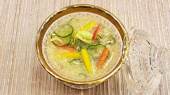 シャキシャキ野菜のひんやりみそ汁