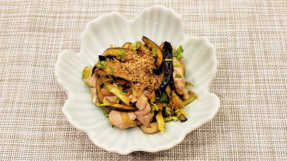 鶏肉と野菜のにんにくしょうゆ和え