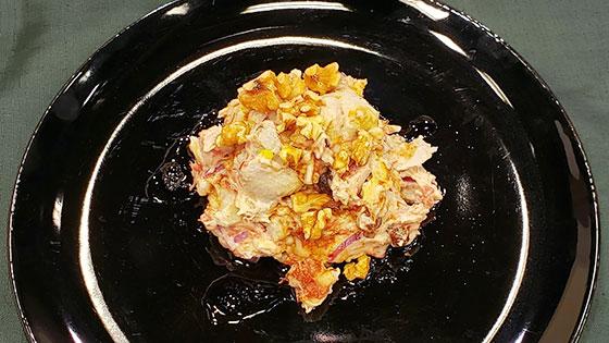 里芋とコンビーフのタロサラダ・バルサミコ風味
