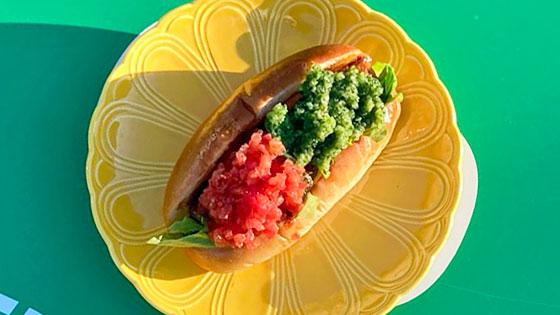 秋鮭と緑酢・赤酢のサンド